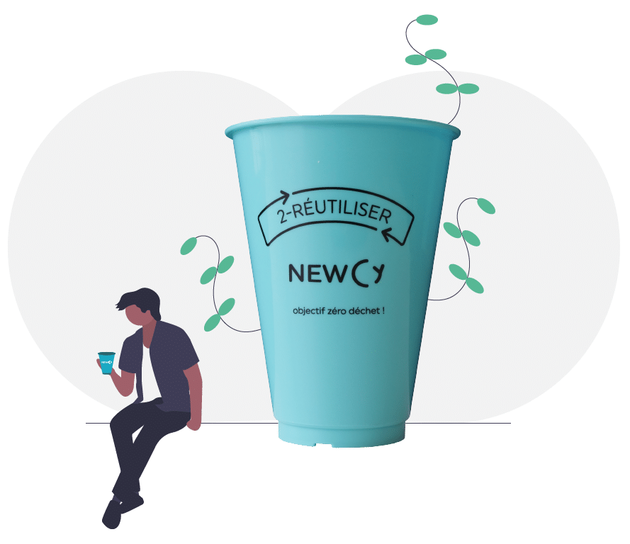 Newcy - Gobelets réutilisables pour entreprises